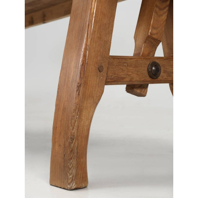 Antique Country Pine Bench With Adjustable Back For Sale - Image 4 of 13