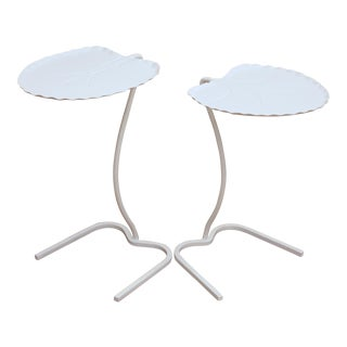 John Salterini Lily Pad Tables in White, Set of 2