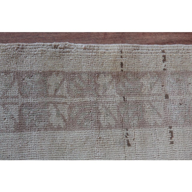 """Vintage Turkish Muted Wool Rug - 3'11"""" x 5'10"""" For Sale - Image 9 of 11"""