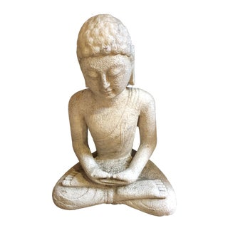 Carved Marble Meditation Buddha Statue For Sale