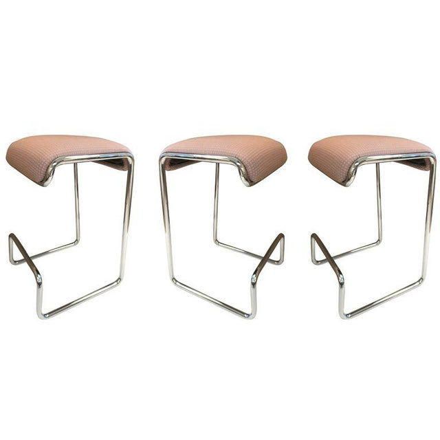 Three Bar Stools by Design Institute of America For Sale In New York - Image 6 of 6