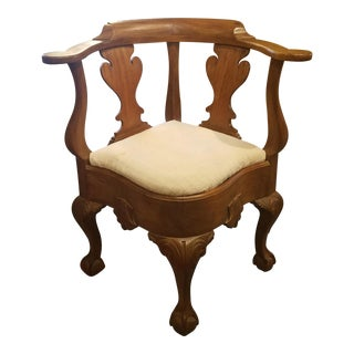 Antique Chippendale Corner Chair For Sale
