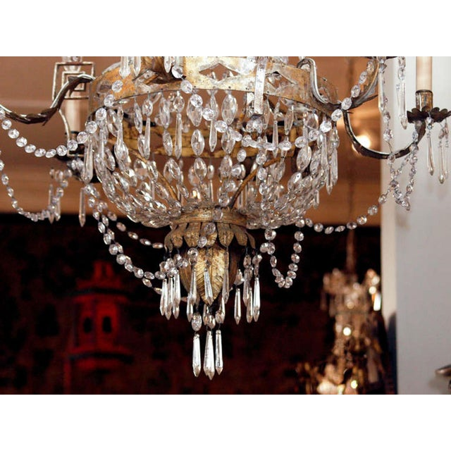 Italian AN EARLY 19C TUSCAN CHANDELIER For Sale - Image 3 of 6