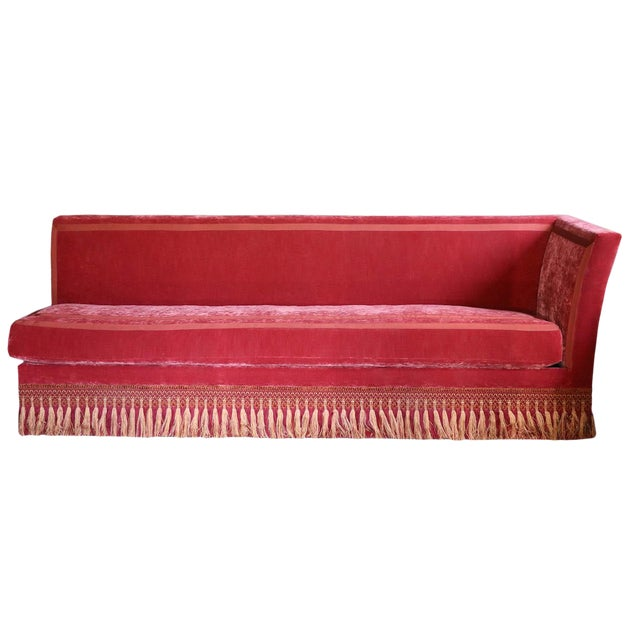 French Left Arm Banquette Settee For Sale