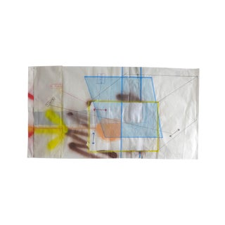 "Peter Soriano ""Paris - Ober (Blue Tarp)"", Mixed Media For Sale"