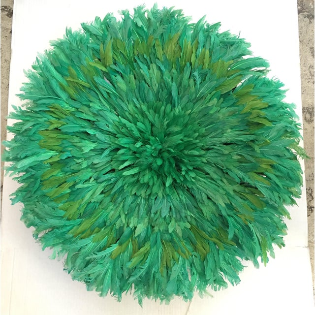 Authentic Green African Juju Hat - Image 2 of 4