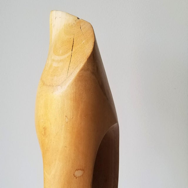 """1971 """"Calming"""" Abstract Wood Sculpture by John Graham For Sale - Image 10 of 13"""