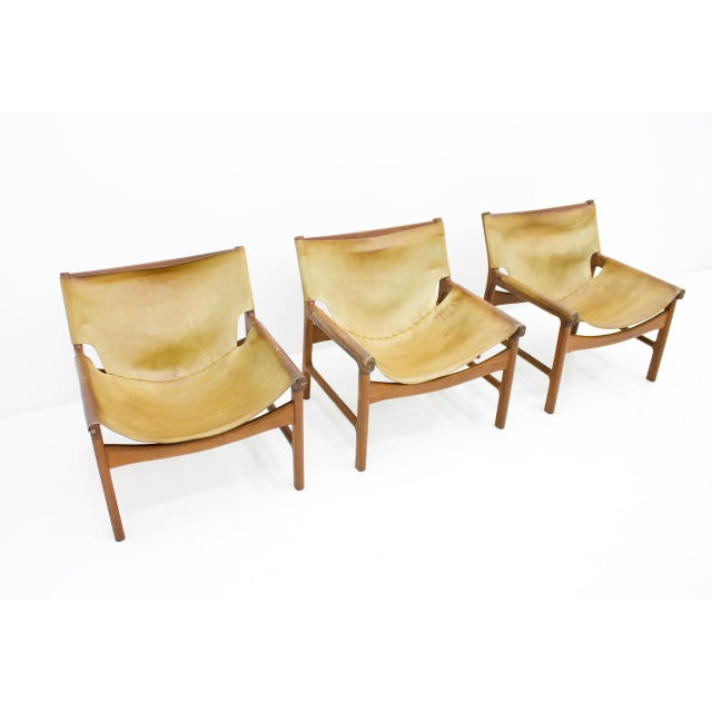 Rare Lounge Chairs Model 103 by Illum Wikkelsø for Mikael Laursen, Denmark 1972. Good condition with nice patina. Price is...