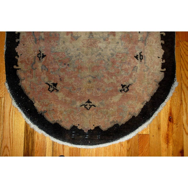 1920s Hand Made Antique Art Deco Chinese Rug - 2′10″ × 4′10″ For Sale - Image 4 of 6
