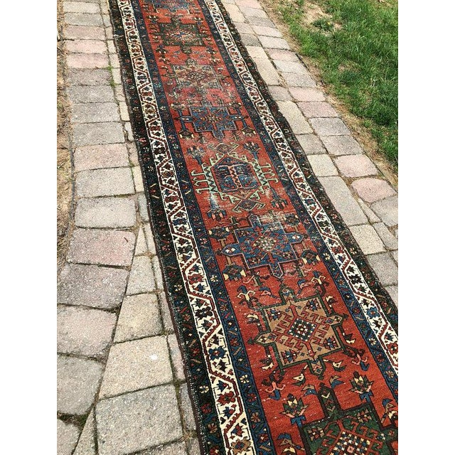 "Vintage Karajeh Wool Runner Rug - 2'10""x11'2"" For Sale - Image 4 of 10"