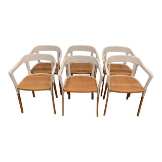 Modern Italian Magis Steelwood Dining Chairs - Set of 6 For Sale