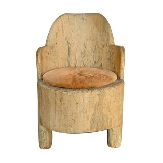 18th Century Vintage Swedish Tub Chair For Sale