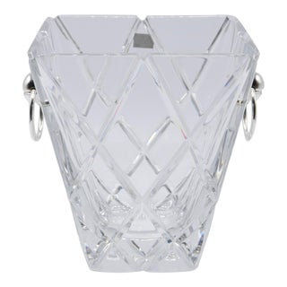 Square Crystal Ice Bucket by Mikasa For Sale