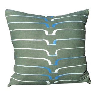 Three Caryn Cramer Linen Pillow For Sale
