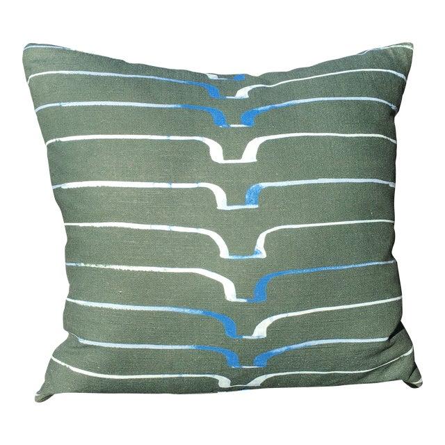 Three Caryn Cramer Linen Pillow For Sale