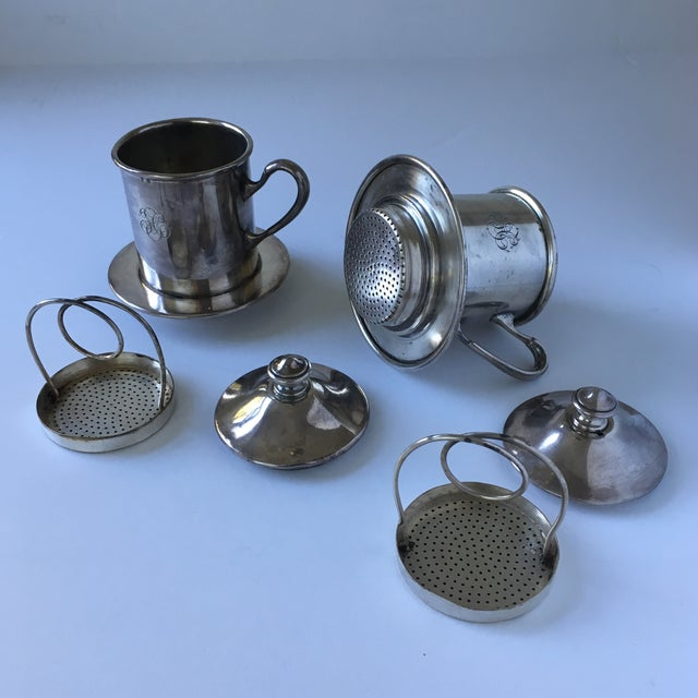 French Silverware Egoist Tea Cup Filter Set, 1850 For Sale In San Francisco - Image 6 of 11