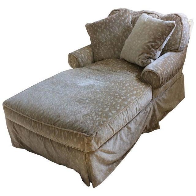 Miraculous Vintage Down Filled Chaise Lounge Creativecarmelina Interior Chair Design Creativecarmelinacom