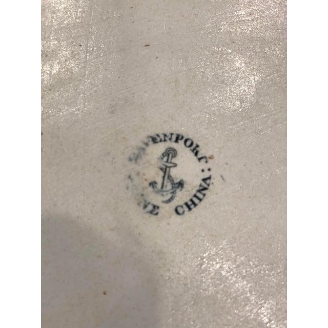 "Ceramic Antique ""Flying Bird"" Davenport Platter For Sale - Image 7 of 8"
