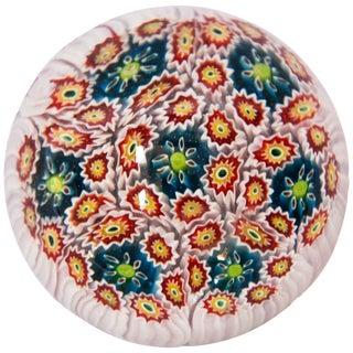 Italian Vetreria Murano Venini Art Glass Millefiori Collectable Paperweight For Sale