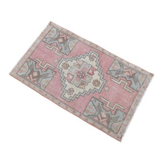 Hand Knotted Door Mat, Entryway Rug, Bath Mat, Kitchen Decor, Small Rug, Turkish Rug - 1′8″ × 2′9″ For Sale