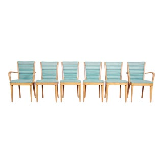 Heywood-Wakefield Mid-Century Modern Solid Maple Dining Chairs, Set of Six For Sale