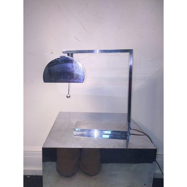 Metal Superb Rare Modernist Art Deco Desk Lamp For Sale - Image 7 of 10