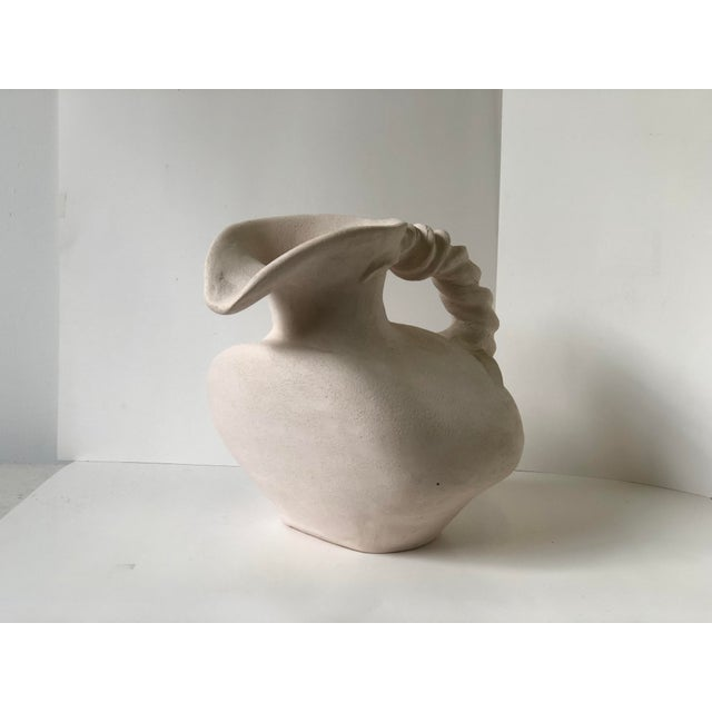 Mid 20th Century Vintage Plaster Vessel in the Grecian Askos Form For Sale - Image 5 of 13