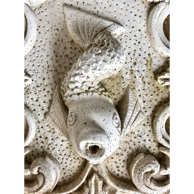 English Traditional Cast Stone Fish Fountain For Sale - Image 3 of 3
