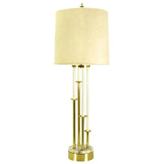 Rembrandt Tall Brass Candelabra Style Table Lamp For Sale