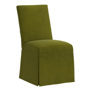 Slipcover Dining Chair in Velvet Applegreen For Sale
