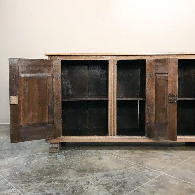 19th Century English Stripped Oak Buffet For Sale In Dallas - Image 6 of 13