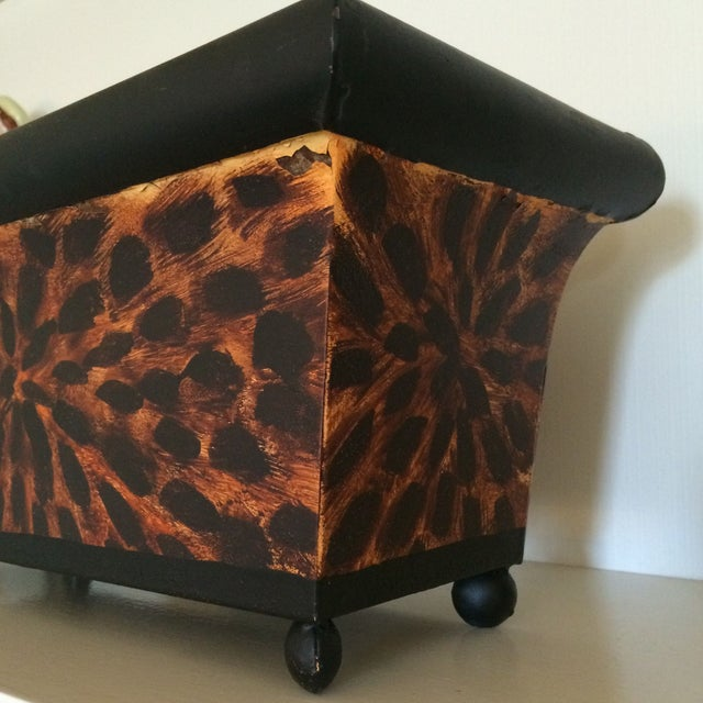 Painted Tole Tortoise Planter - Image 3 of 3