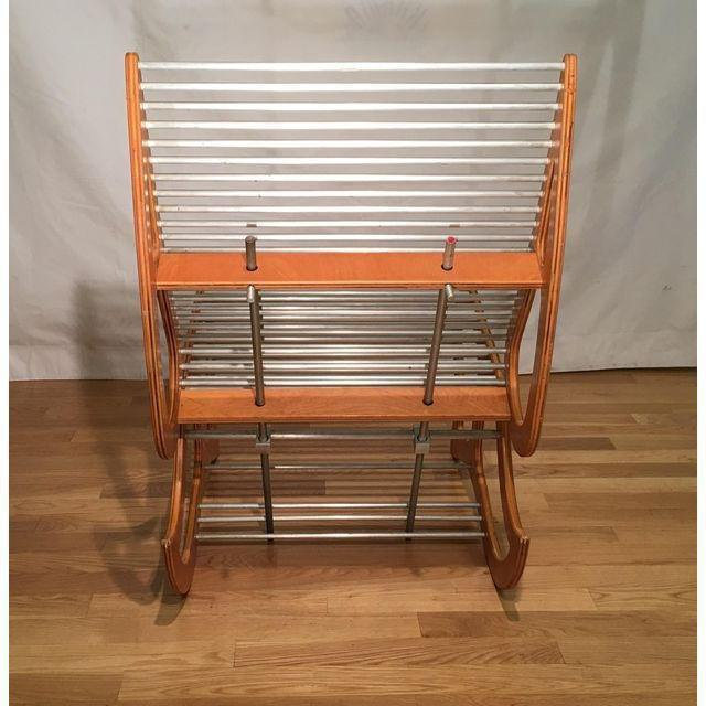 Danish Modern Mid Century Danish Modern Designer Lounge Chair W Aluminum Rods For Sale - Image 3 of 7