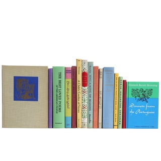 Spring Poetry - Set of Fifteen Decorative Books For Sale