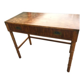 Dixie Mid Century Modern Campaign Desk For Sale