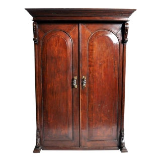 British Colonial Victorian Armoire For Sale