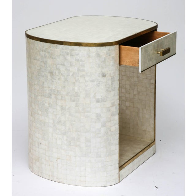 Gold Capiz Shell and Antiqued Brass Cabinet by Platt Collections For Sale - Image 8 of 11
