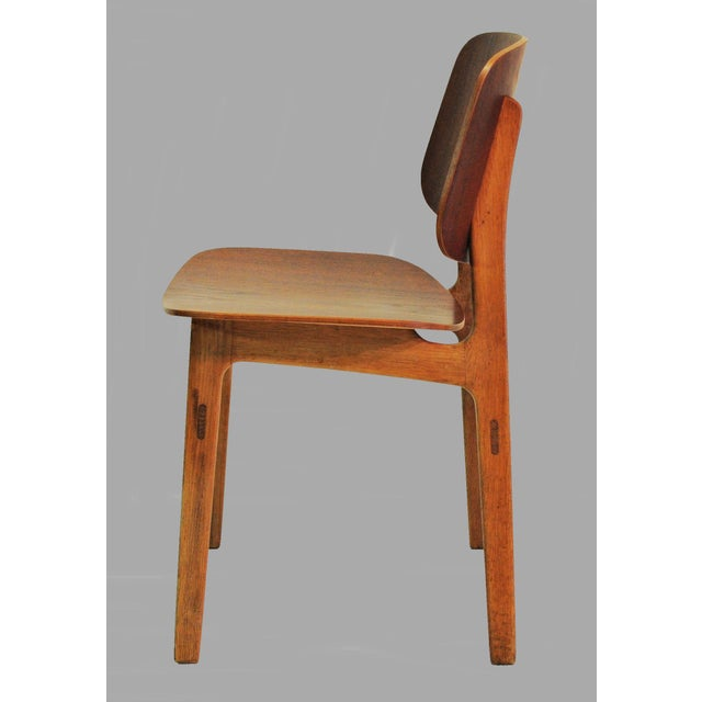 1950s Mid Century Borge Mogensen Shell Chairs- A Pair For Sale - Image 5 of 8
