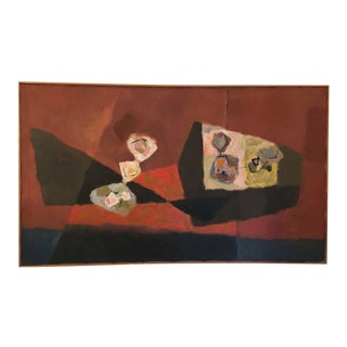 Expressionist Abstract Painting by Richard Harrison Crist, 1950s For Sale