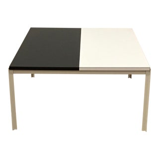 1960's Mid-Century Lewis Butler for Knoll Black and White Laminate and Metal Coffee Table For Sale