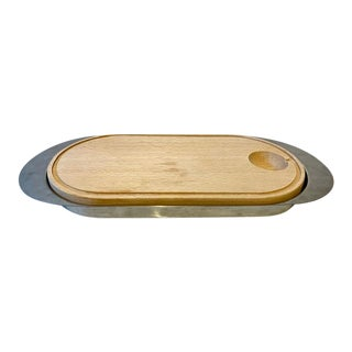 1970s Stelton Clylinda Line Multi Fish Tray With Wooden Board For Sale