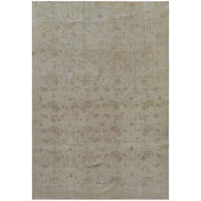 """Abstract Mansour Genuine Handwoven Turkish Rug - 6'6"""" X 9'9"""" For Sale - Image 3 of 3"""