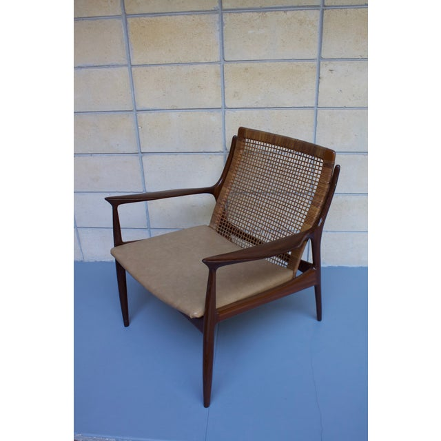 Kofod Larsen Cane Back Lounge Chair For Sale - Image 5 of 11