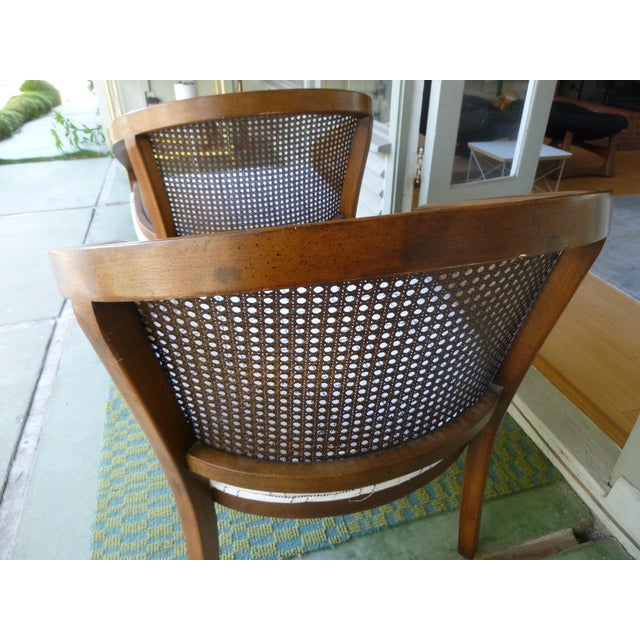 Mid-Century Modern Mid-Century Cane Chairs - A Pair For Sale - Image 3 of 7