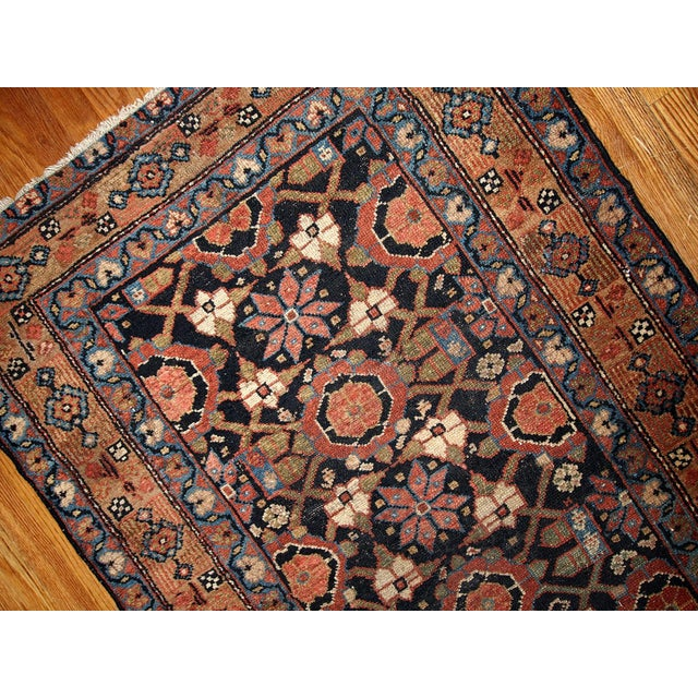 Antique Handmade Persian Hamadan Runner - 3' X 13' For Sale - Image 5 of 6