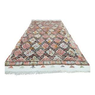 Anatolia Kilim Turkish Embroidery Rug-3′7″ × 6′ For Sale