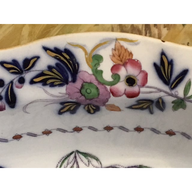 1820s Antique English Masons Ironstone Deep Serving Bowl For Sale - Image 4 of 12