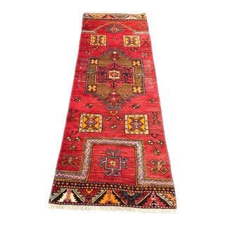1970s Vintage Turkish Oushak Rug - 2′ × 6′ For Sale
