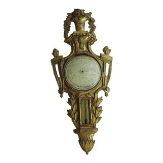 Louis XVI Painted Giltwood Barometer For Sale