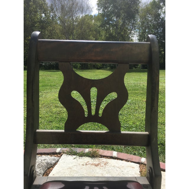 Antique Vintage Folding Theater Chair - Image 5 of 7
